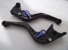Triumph DAYTONA 955i (97-03), CNC levers short black/blue adjusters, F14/T955